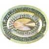 Glitz Sew-on Stone 10pcs Oval 40x50mm Crystal Aurora Borealis